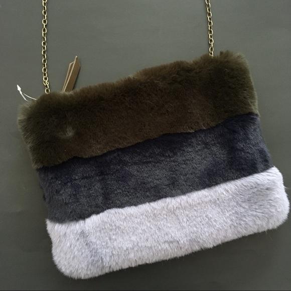15c5d033bb Anthropologie Handbags - Remi Reid Faux Fur Crossbody Bag Anthro